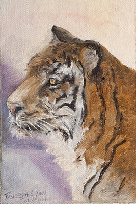 Painting - Tiger Study by Teresa Lynn Johnson