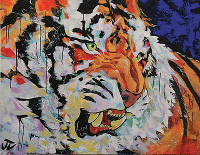 Painting - Tiger Style by Jay V Art