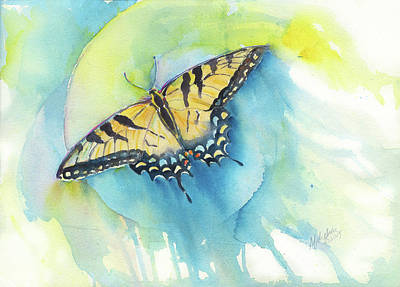 Painting - Tiger Swallowtail by A Christie Michelsen