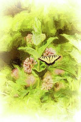 Digital Art - Tiger Swallowtail Butterfly In The Blue Ridge Ap by Dan Carmichael