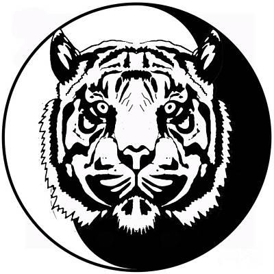 Tiger Symbol Original by Stephen Humphries