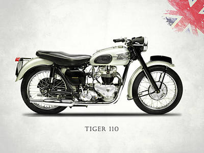 Tiger Photograph - Tiger T110 1957 by Mark Rogan