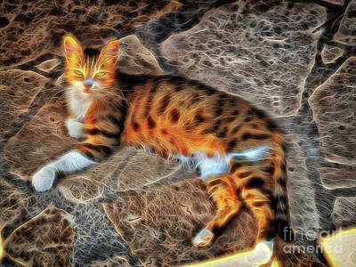 Art Print featuring the photograph Tiger Tiger Burning Bright by Leigh Kemp
