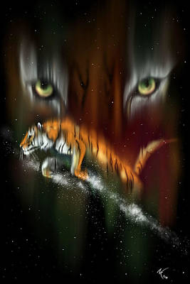 Tiger, Tiger Burning Bright Art Print