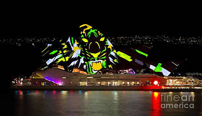 Photograph - Tiger Tiger Burning Bright - Sydney Vivid Festival by Bryan Freeman