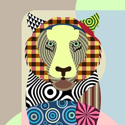 Purebred Digital Art - Tiger Tigris by Lanre Studio