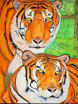 Tiger Twins Art Print by Jose Cabral