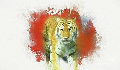 Digital Art - Tiger Two by Suzanne Handel