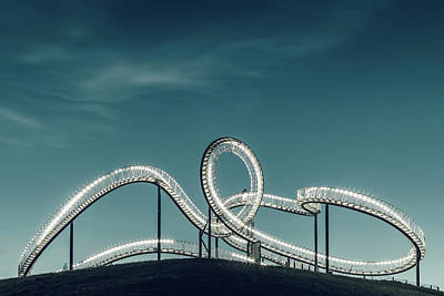 Rollercoaster Photograph - Tiger Versus Turtle. by Mibo Photography