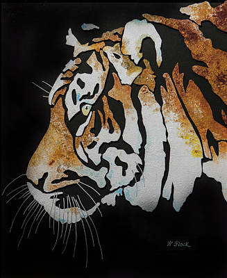 Wall Art - Painting - Tiger by Wendell Fiock