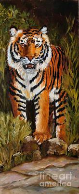 Tiger Wildlife Art Art Print by Mary Jo Zorad