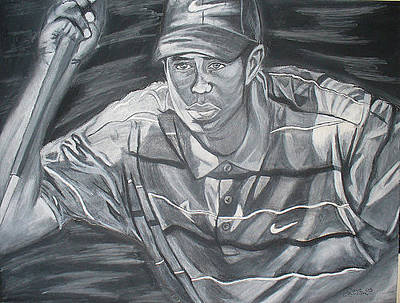 David Courson Drawing - Tiger Woods by David Courson