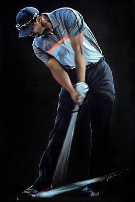 Painting - Tiger Woods by Mark Robinson