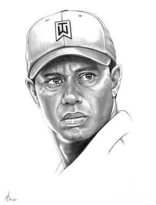 Tiger Woods Print by Murphy Elliott