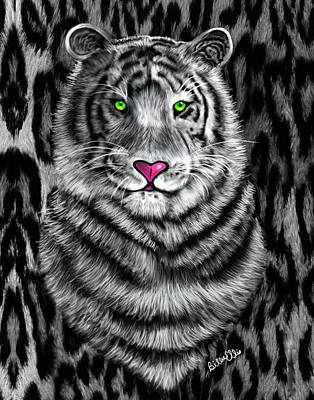 Animal Lover Digital Art - Tigerflouge by Billie Jo Ellis