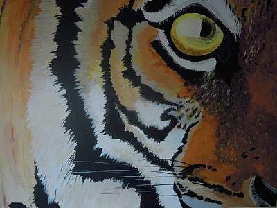 The Tiger Painting - Tigers Eye 1 by Scott Murphy