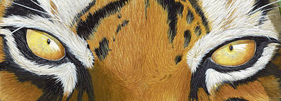 Tiger Eye Painting - Tigers Eye by Laurie Bath