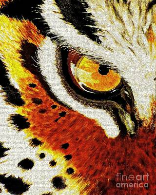 Painting - Tiger's Eye by Saundra Myles