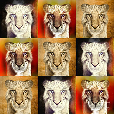 Painting - Tigers by Methune Hively