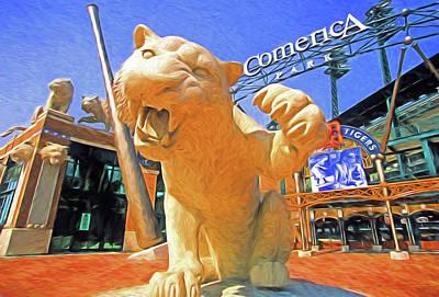 Detroit Tigers Digital Art - Tigers Park  by Dennis Cox Photo Explorer