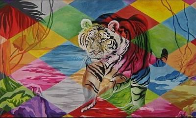 Tiger's Power Art Print by Netka Dimoska