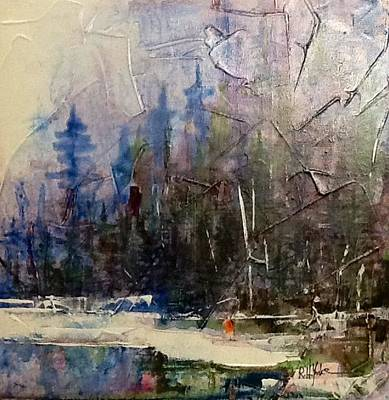 Gallatin River Painting - Tight Line by Robert Yonke