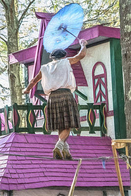 Tightrope Walking Photograph - Tightrope Walker by Black Brook Photography