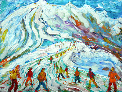 Painting - Tignes Grande Motte by Pete Caswell