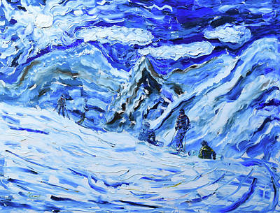 Painting - Tignes Val Claret Col Du Palet by Pete Caswell