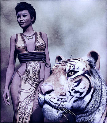 Painting - Tigress by Maynard Ellis