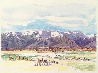 Tehran Painting - Tihran, Where Baha'u'llah Was Born, In 1817. by Sue Podger