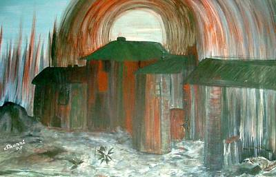 Art Print featuring the painting Tijuana Backstreets by Sherri  Of Palm Springs