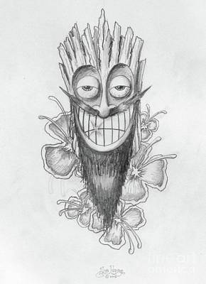 Drawing - Tiki  by Alan Johnson