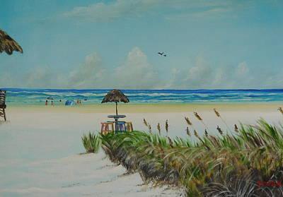 Painting - Tiki Bar On The Gulf by Lloyd Dobson