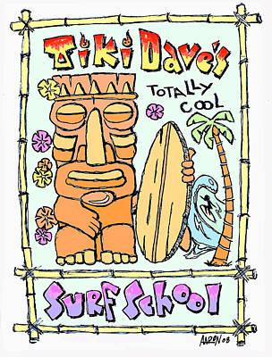 Tiki Dave's Art Print by Aaron Bodtcher