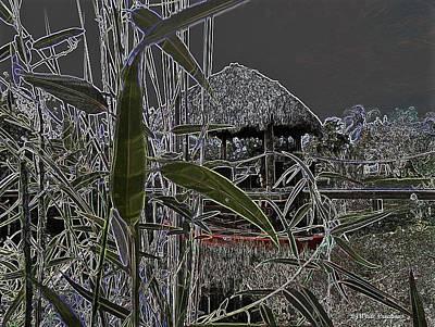 Canoe Digital Art - Tiki Hut Gone Abstract by Lj White