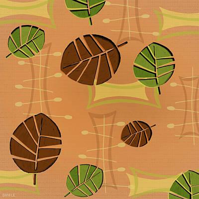 Tiki Lounge Wallpaper Pattern Art Print