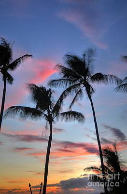 Kaanapali Beach Photograph - Tiki Palm Sunset by Kelly Wade