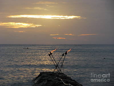Photograph - Tiki Torches In The Sunset by Anthony Trillo