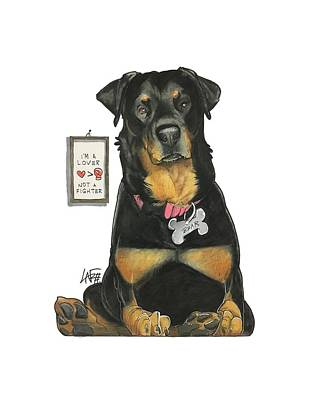 Rottweiler Wall Art - Drawing - Tilakamonkul 7-1327 by John LaFree