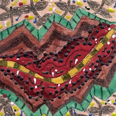Ceramic Mixed Media - Tile 2 by  Karen Silverman