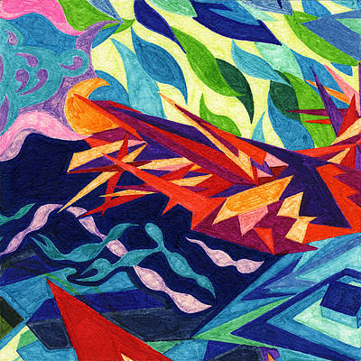 Tile 22 - The Great September Gale Art Print by Sean Corcoran