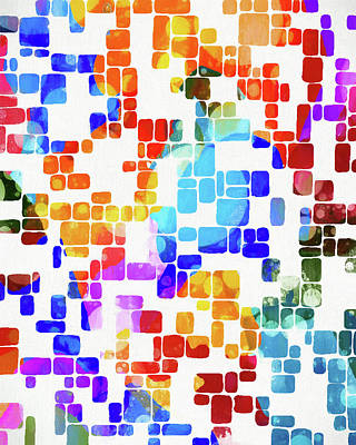 Painting - Tile Abstract by Dan Sproul
