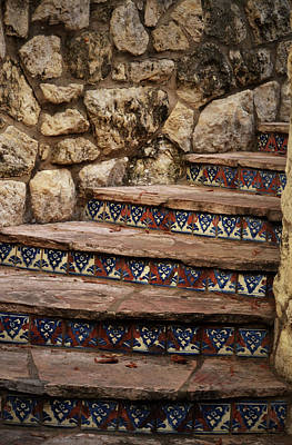 Photograph - Tile Stairs by Nadalyn Larsen