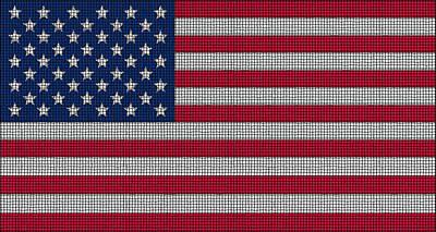 Flag Digital Art - Tiled Flag by Ron Hedges