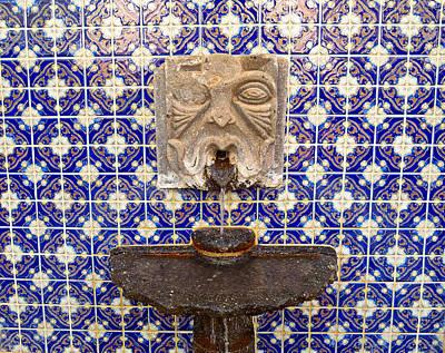 Photograph - Tiled Fountain by Robert Meyers-Lussier