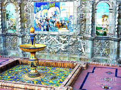 Photograph - Tiled Provincial Alcoves by John Rizzuto