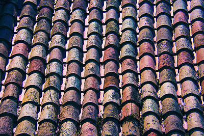 Photograph - Tiled Roof In Girona Spain by Yulia Kazansky