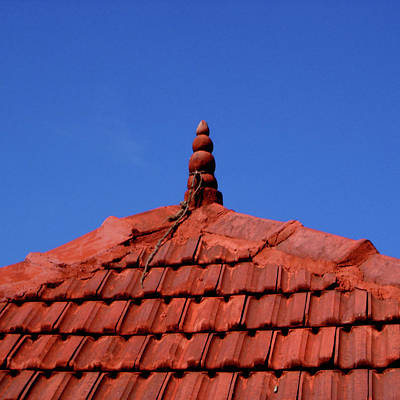 Photograph - Tiled Roof Near Ooty, India by Misentropy