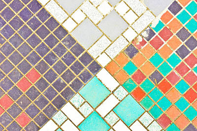 Broken Tiles Photograph - Tiled Surface by Tom Gowanlock